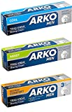 Arko Shaving Cream Variety Pack, Maximum Comfort/Cool/Moist, 3 Count