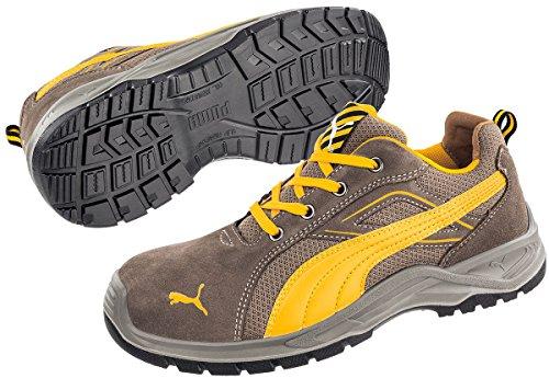 PUMA Safety Sicherheitshalbschuh S1P Größe: 40 brown, giallo Omni Brown Low SRC 643630-40 1 paio
