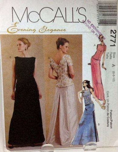 Amazon.com: Women\'s Formal Dress Pattern, McCalls 2771 - Evening ...