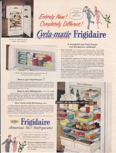 Frigidaire CyclaMatic Refrigerator 1952 Antique Home ...
