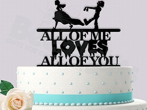 Zombie All of Me Wedding Cake Topper