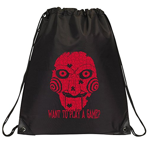 Billy the Puppet, Drawstring Bag - Black