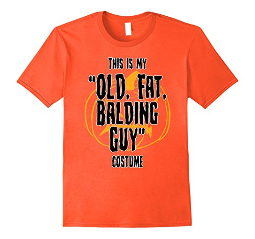 Mens Halloween 'Old, Fat, Balding Guy' Costume T-shirt 3XL (Costumes For Fat Guys)
