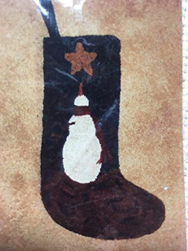 Snowman Stocking Rug Hooking Wool Pattern