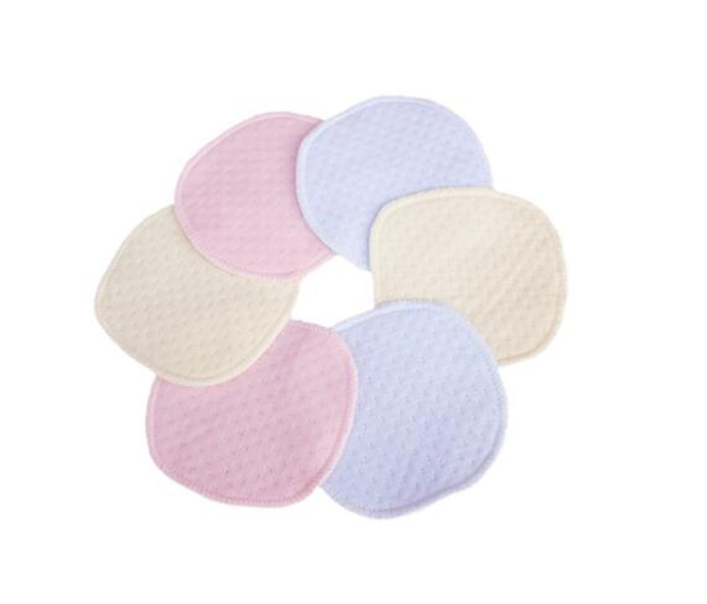 12PCS Soft Organic Cotton Nursing Pads Eco-Friendly & Washable Breastfeeding Pads--Soft and Comfortable Mild and No-Stimulation (Color Random) erioctry