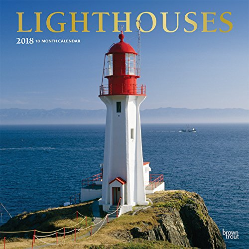 Lighthouses 2018 12 x 12 Inch Monthly Square Wall Calendar with Foil Stamped Cover, Ocean Sea Coast (Multilingual Edition) by BrownTrout Publishers
