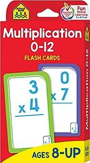 School Zone - Multiplication 0-12 Flash Cards - Ages 8+, 3rd Grade, 4th Grade, Elementary Math, Multiplication