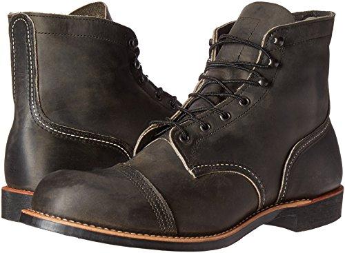 Red 8113 Boots Wing Charbon Homme De Bois PSPgZ86