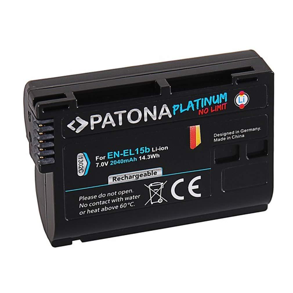 2X Platinum Batteria Compatible con Nikon EN-EL15b con Micro USB PATONA Dual Cargador