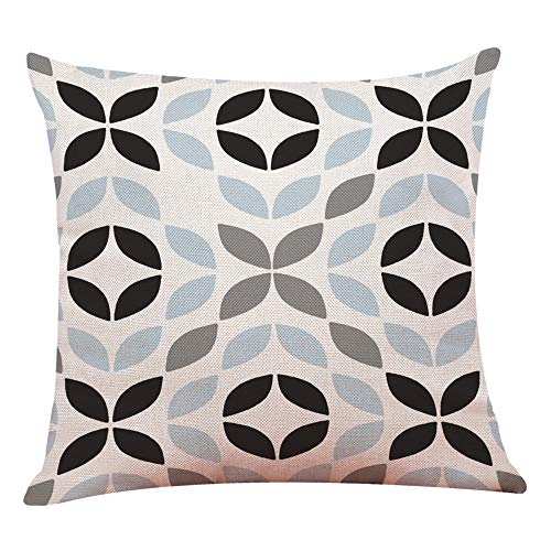 Dressin Home Decor Cushion Cover Simple Geometric Throw Pillowcase Casual Soft Pillow ()