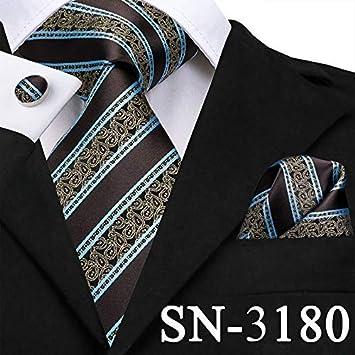 IG Carrera Hombres S Tie Sn-3136 Nuevo Oro Azul Rayas Corbata ...