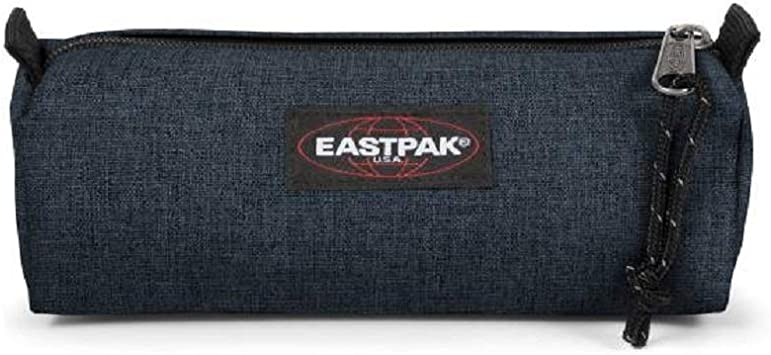 Estuche escolar Eastpak Benchmark Single Triple Denim azul oscuro 20 x 7 x 6 cm: Amazon.es: Equipaje