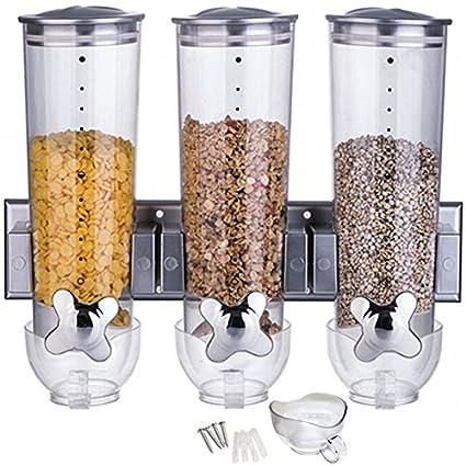 n1 Corn Flakes – Dispensador de cereales con tres vasos/también es adecuado para frutos