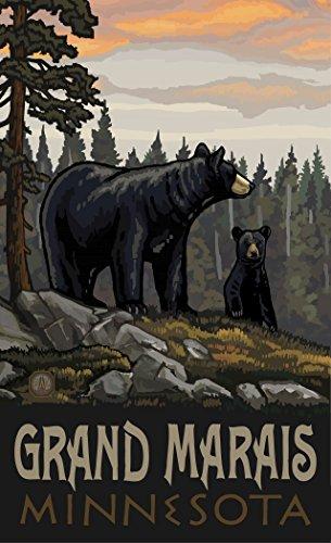 (Northwest Art Mall PAL-5659 BBFF Grand Marais Minnesota Black Bear Family Forest Print Artist Paul A. Lanquist, 11