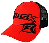 Risk Racing Unisex-Adult Trucker Hat (Red/Black, One size), 1 Pack