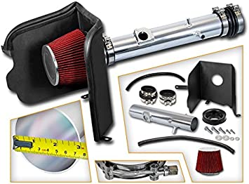 Filter Combo BLUE Compatible For 05-11 Toyota Tacoma 4.0L V6 Cold Air Intake System with Heat Shield Kit