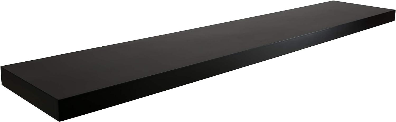 Matte Finish 24 kieragrace Stockholm Aberg Floating Shelf w//LED Light Black