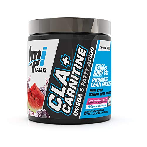 BPI Sports CLA + Carnitine - Conjugated Linoleic Acid - Weight Loss Formula - Metabolism, Performance, Lean Muscle - Caffeine Free - For Men & Women - Watermelon Freeze - 50 servings - 12.34 oz (Best L Carnitine Supplement For Weight Loss)
