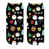 Christmas Sock Stuffers,Christmas Socks Tall,Christmas Socks Adult,Christmas Socks For Women,3D Funny Crazy Cute Amazing Novelty Print Ankle Socks,D,Free Size