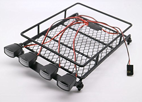 RC-110-Roof-Luggage-Rack-LED-Light-Bar-Wrangler-Tamiya-CC01-SCX10-Axial-512B