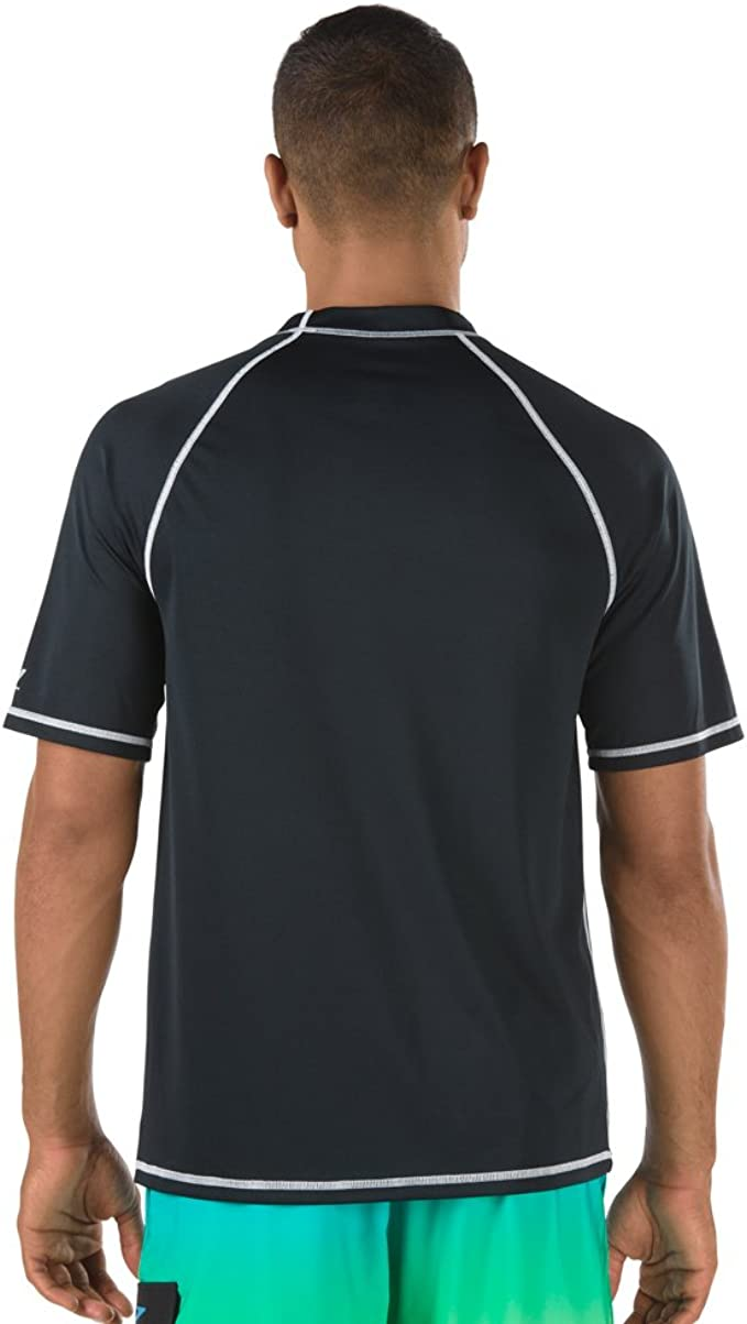 Speedo Mens Short Sleeve Easy Rash Guard Swim Shirt with Uv and UPF 50+ Protection