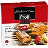 ProtiDiet High Protein Bar - Strawberry & Peanuts,net wt 10.6 oz,(7 Servings/Box)