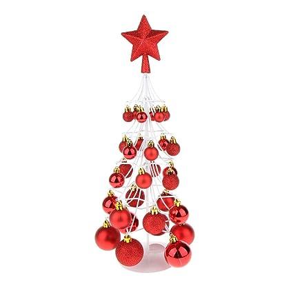 Centrotavola Natalizi Amazon.F Fityle Decorazione Natalizia Per Centrotavola Mini Natale Bauble