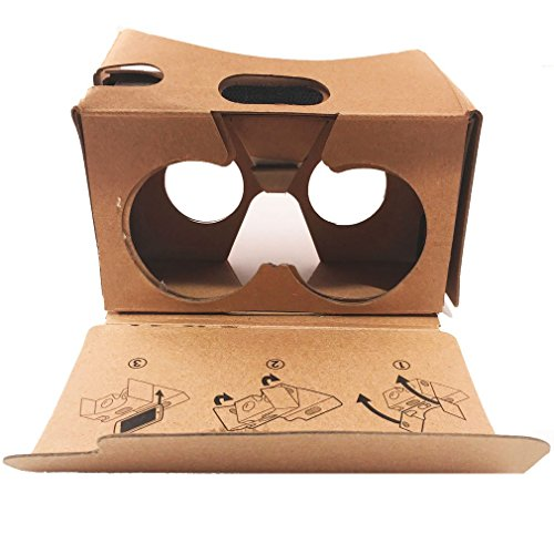 Google Cardboard Virtual Reality Glasses by LookerMax® - Perfect Virtual Reality Headset for Games, Movies &...