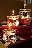 CLEARCRAFT SET OF THREE MINI CUBE OIL CANDLES FOR USE WITH SMOKELESS AND ODOURLESS LAMP OIL