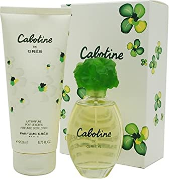 Cabotine By Parfums Gres For Women. Set-edt Spray 3.3 Ounces Body Lotion 6.8 Ounces