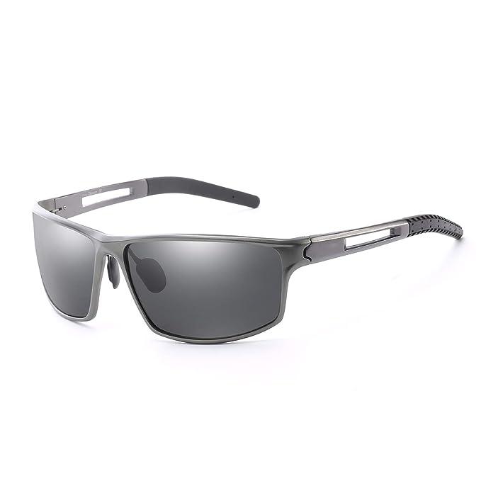 IGnaef Gafas de sol deportivas polarizadas para hombres para esquiar y correr superligeras