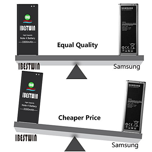 Note 4 Battery IBESTWIN 3300mAh Li-ion Replacement Battery for Samsung Galaxy Note 4 N910, N910V, N910A, N910T, N910P, N910R4, N910U 4G LTE, N910F [3 Years Warranty] by IBESTWIN (Image #5)