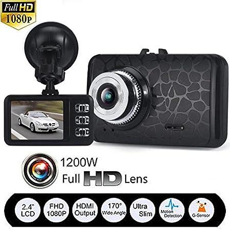 Video Camera Recorder, Pocciol 1080P HD CAR DVR G-sensor IR Vehicle Video Camera Recorder Dash Cam 170 A + grade high-resolution ultra wide-angle len (Black)