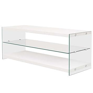Vidaxl Fernsehtisch Hochglanz Glas Mdf Tv Tisch Lowboard Tv Schrank