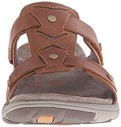 Merrell Women\'s Adhera Slide Sandal, Tan, 9 M US