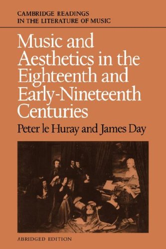 Music and Aesthetics in the Eighteenth and Early Nineteenth Centuries (Cambridge Readings in the Literature of Music)