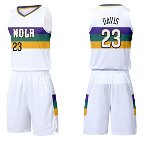 Anthony Davis # 23 City Edition Shorts Jersey New Orleans Pelicans ...