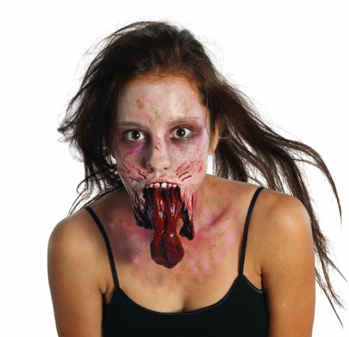 Rubie's The Walking Dead Split Jaw Latex Appliance, Standard color, One Size (Walking Dead Contact Lenses)