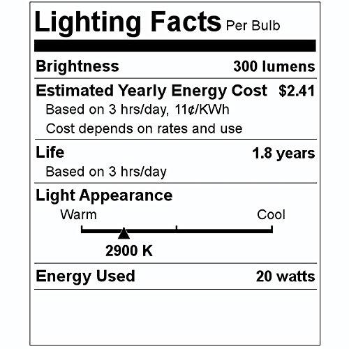 Satco 03420 - 20T3Q/CL BI/PIN 2/CARD S3420 Bi Pin Base Single Ended Halogen Light Bulb
