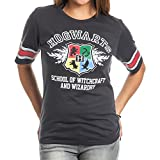 Harry Potter Hogwarts Juniors Black Hockey T-Shirt