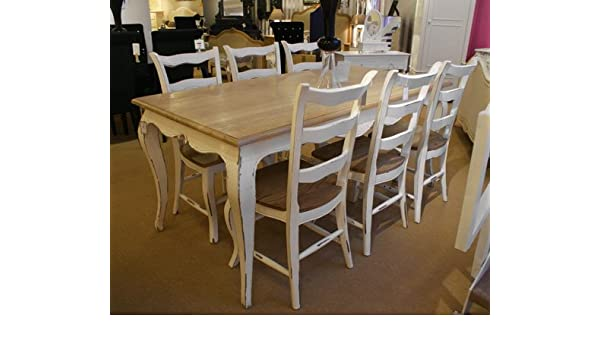 Stupendous Amazon Com French Oak Dining Table Set 1 Table 6 Chairs Uwap Interior Chair Design Uwaporg