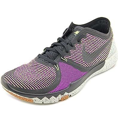 NIKE Nike Free Trainer 3 0 V4 Mens Sneakers Black Volt wd Purple US Sale