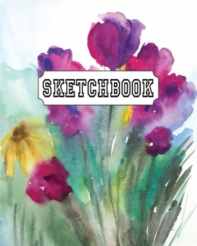 Sketchbook : Watercolor Tulips: 120 Pages of 8