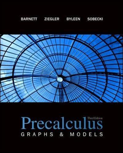 Precalculus: Graphs and Models (Math Pre Calculus 12 Textbook Mcgraw Hill)