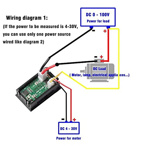 jahyshow mini dc 100v 10a digital voltmeter ammeter blue red rh importitall co za digital volt amp meter circuit diagram 12 volt amp gauge wiring diagram