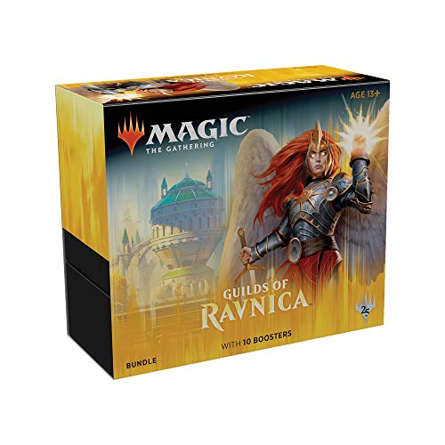 Magic: The Gathering Guilds of Ravnica Bundle | 10 Booster Packs + Land Cards (230 Cards) | Accessories