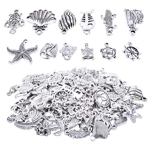 BronaGrand 100 Peices DIY Charms Pendants for Making Bracelet and Necklace