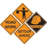 Beistle Construction Sign Cutouts Party Accessory (1 count) (4/Pkg)