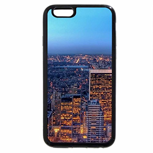iPhone 6S / iPhone 6 Case (Black) view of manhattan form a glass balcony