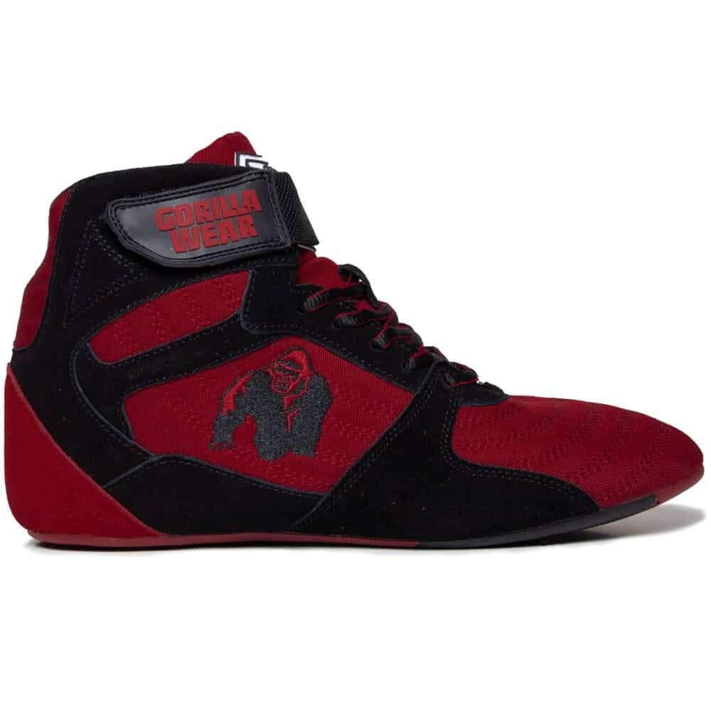 Gorilla Wear Perry High Tops Pro - rot/schwarz - Bodybuilding und Fitness Schuhe für Damen und Herren